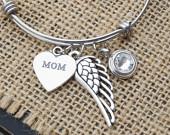 loss of mom memorial bracelet