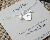 loss of mother sterling silver necklace