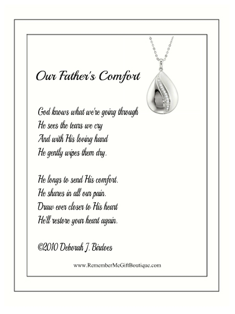 Inspirational Necklace - Fathers Comfort