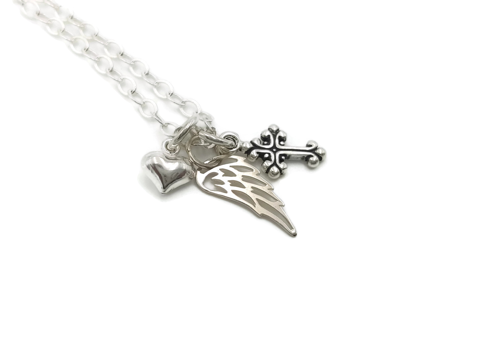 Angel Brother Memorial Necklace, Loss of Brother, Memorial Jewelry