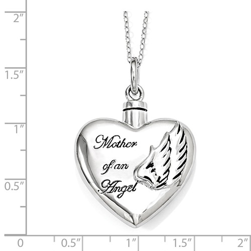 Mother of An Angel Cremation Necklace - Free Shipping