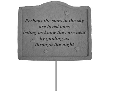 Perhaps the Stars Memorial Garden Stake