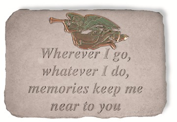 Wherever I go Memorial Garden Stone with Metal Insert