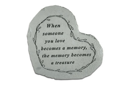 When Someone Heartful Thoughts Memorial Garden Stone