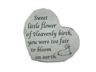 Sweet Little Flower Heartful Thoughts Memorial Garden Stone