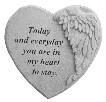 Today and Everyday, Winged Hearts, Memorial Garden Stone