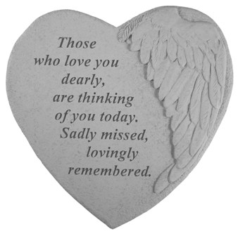 Those who love you, Winged Hearts, Memorial Garden Stone