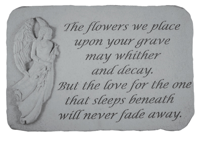 The Flowers We Place, Angel Stones, Memorial Garden Stone