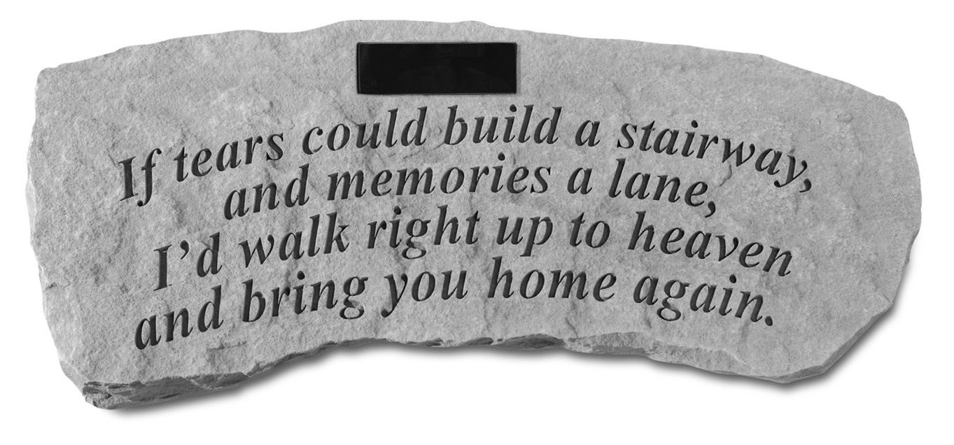 Personalized Tears Memorial Bench