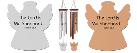 Psalm 231 - Memorial Angel Wind Chimes