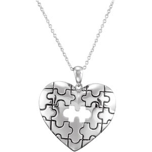 A Piece of My Heart Necklace, Memorial Jewelry