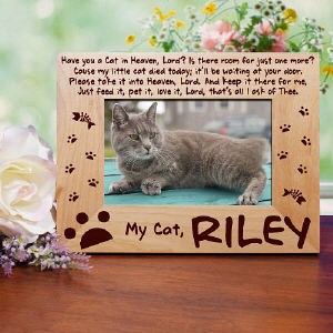 Personalized Cat Memorial Photo Frame