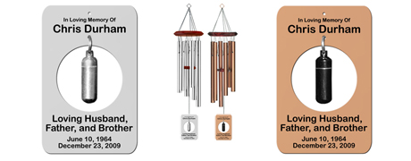 Circle - Personalized Memorial Cremation Wind Chimes