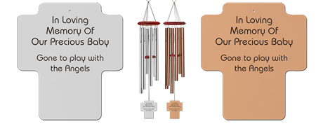 Young Child - Cross Memorial Wind Chimes