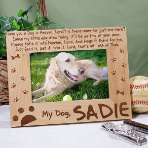 Personalized Dog in Heaven Picture Frame