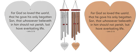 John 316 - Memorial Heart Wind Chimes