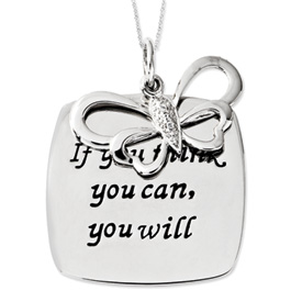 If You Think You Can You Will  Inspirational Necklace - Inspirational Jewelry
