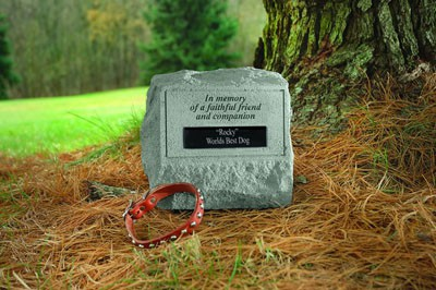Personalized In Memory of a Faithful Friend Headstone with Urn