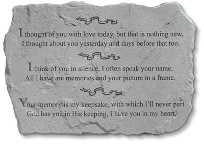 I Thought of You With Love Today Memorial Garden Stone