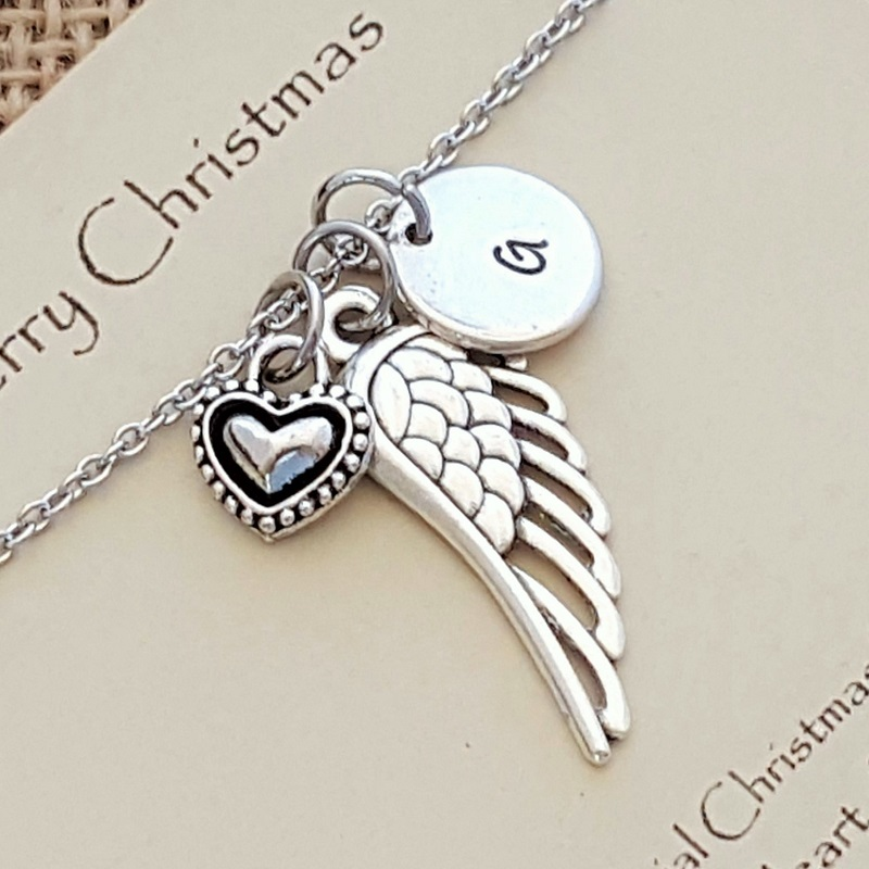 Special Christmas Memories Memorial Necklace with Message and Gift Box