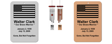 Patriotic - Personalized Wind Chime