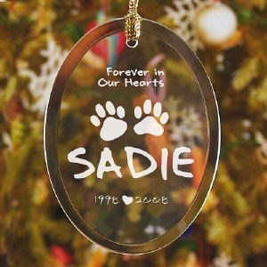 Forever In Our Hearts Pet Christmas Memorial Ornament