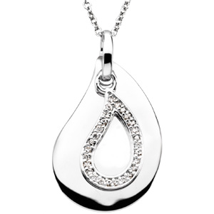 A Tear to Treasure Pendant & Chain, Memorial Necklace