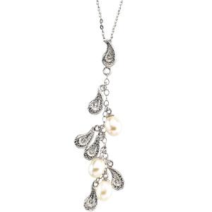 Teardrops Pendant & Chain