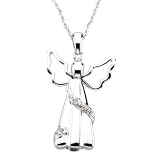 Angel Ash Pendant & Chain