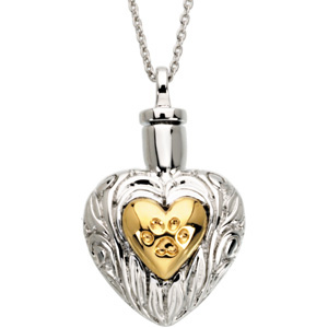 Pet Heart Ash Holder Necklace - Pet Cremation Jewelry