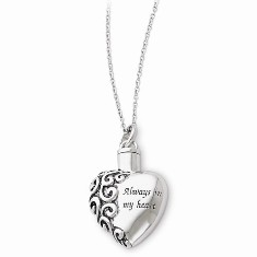Always In My Heart Ash Holder Necklace by Deborah Birdoes