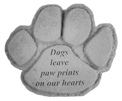 Dogs Leave Paw Prints Shaped Pet Memorial Stone