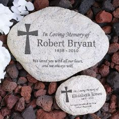 Engraved In Loving Memory Memorial Garden Stone