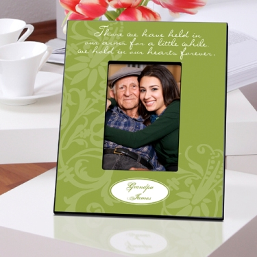 Personalized Memorial Picture Frame Our Hearts in Green