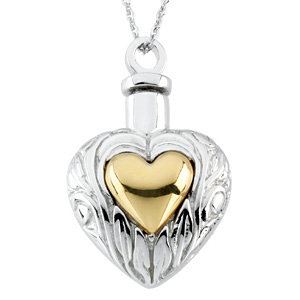 Heart Ash Holder Necklace, Cremation Jewelry for Ashes - Free Shipping
