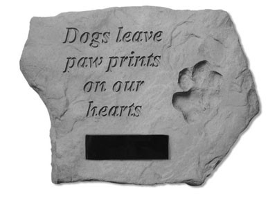 Personalized Dogs Leave Paw Prints on Our Hearts Pet Memorial Garden Stone