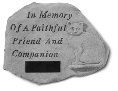 Personalized In Memory of a Faithful Friend Cat Pet Memorial Garden Stone
