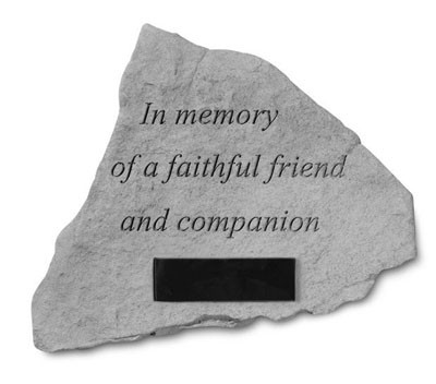 Personalized in Memory of a Faithful Friend Plain Pet Memorial Stone