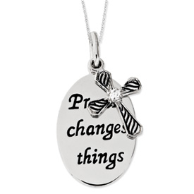Prayer Changes Things  Inspirational Necklace - Christian Jewelry