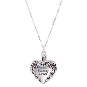 Sterling Silver Forever Loved Ash Holder Necklace - Cremation Necklace - Free Shipping