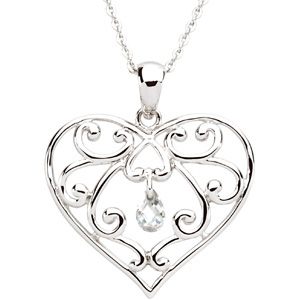 The Healing Heart (TM) Pendant and Chain Sterling Silver