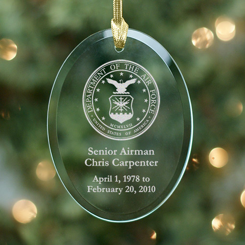 United States Air Force Christmas Memorial Ornament
