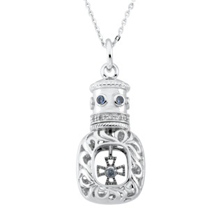 Window of Opportunity Pendant and Chain Sterling Silver - Christian Jewelry