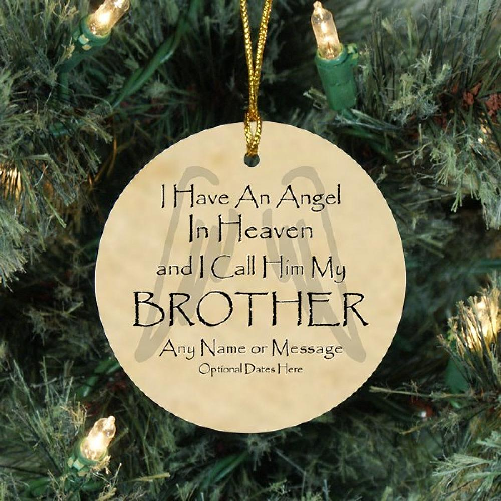 angel brother personalized christmas memorial ornament