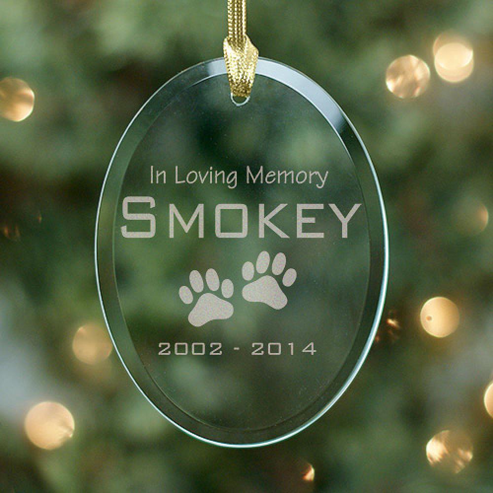 In Loving Memory Personalized Pet Memorial Ornaments Pet Memorial