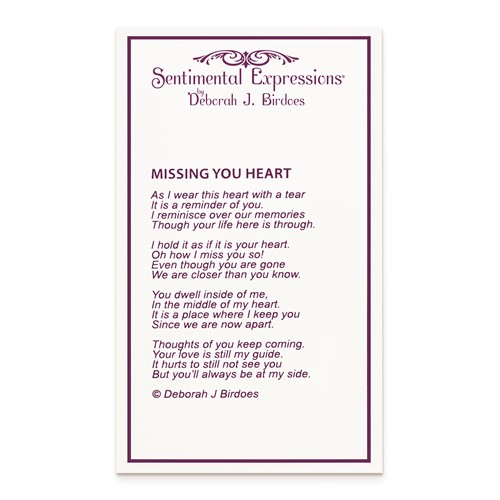 Missing You Heart