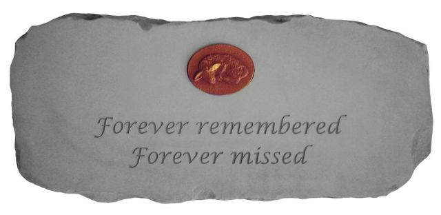 Forever Remembered Symbol Memorial Bench