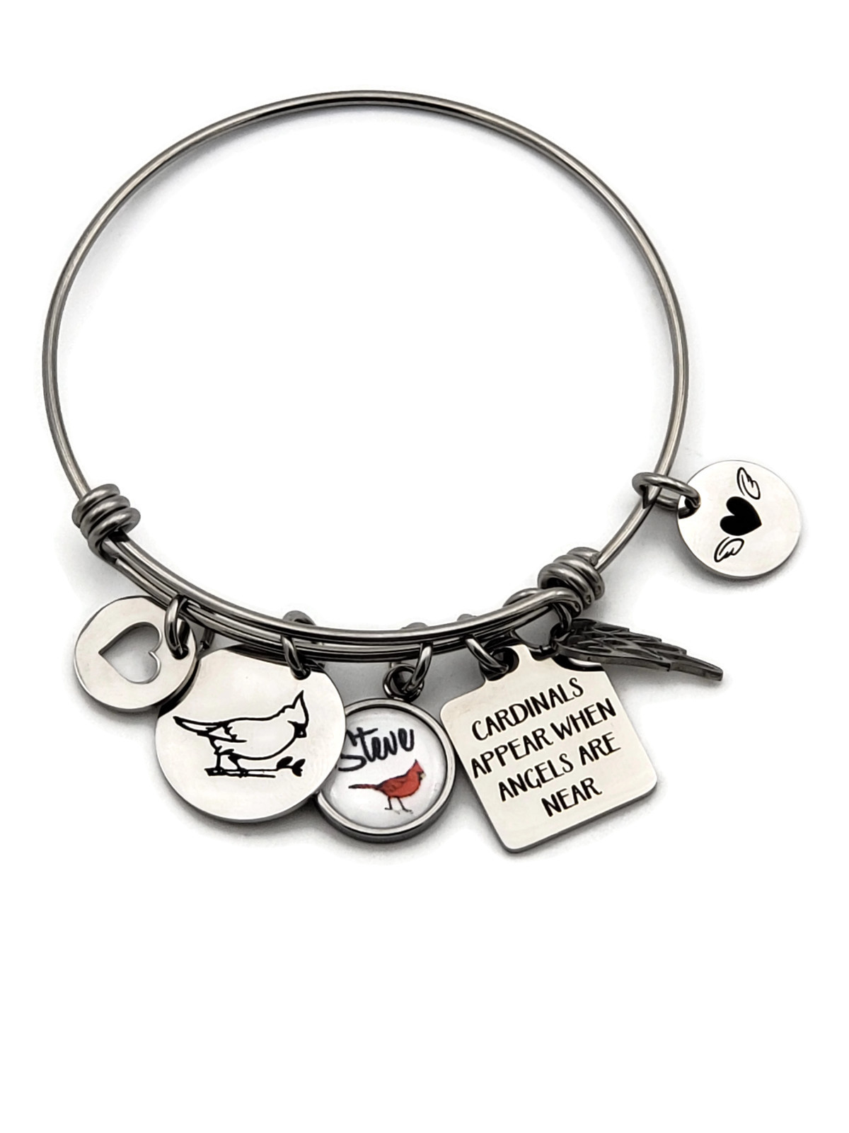 Cardinal Personalized Memorial Bracelet - Remember Me Gifts - Free Shipping