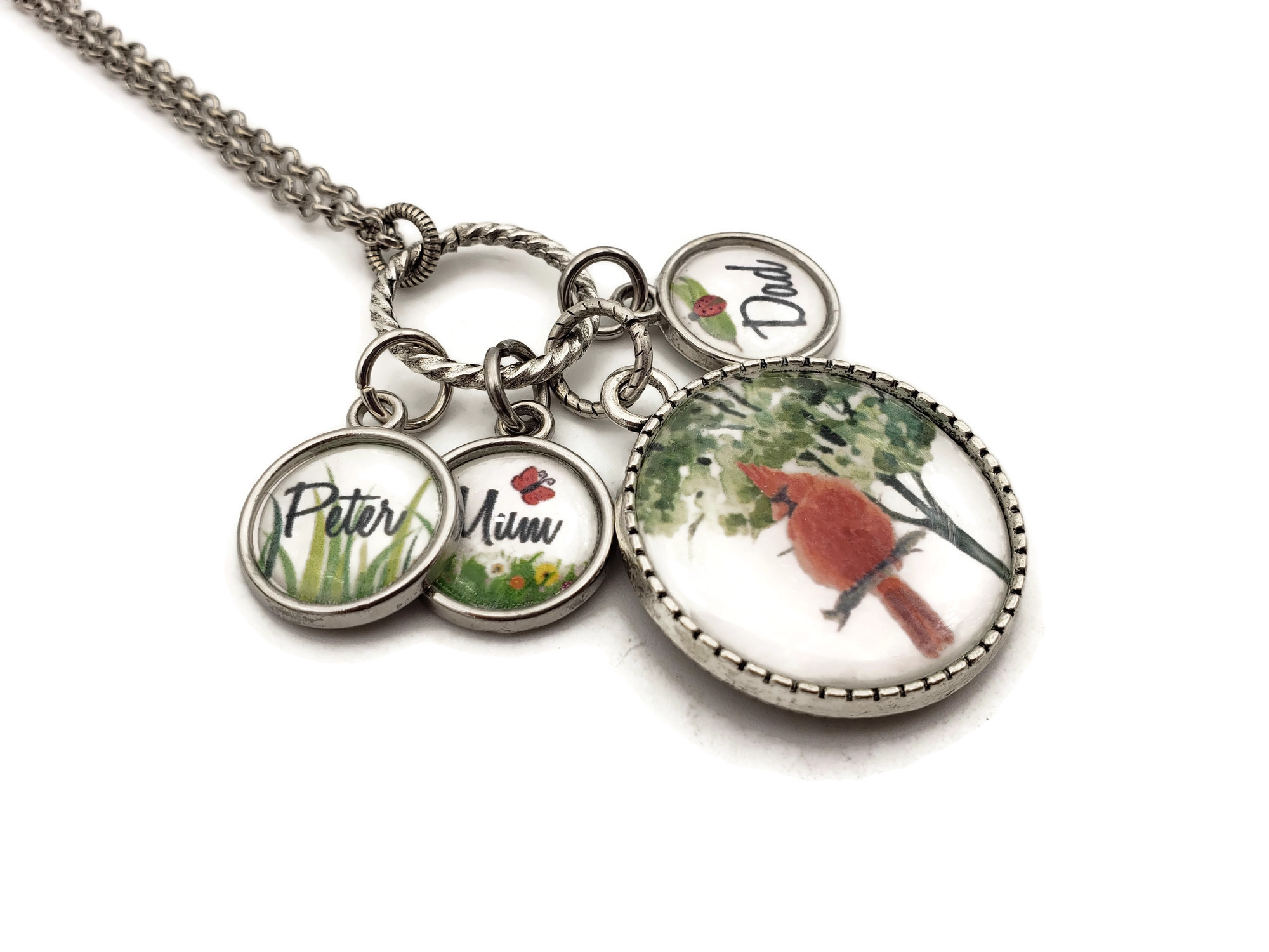 Cardinal Gifts - When a Cardinal Appears - Cardinal Memorial Necklace