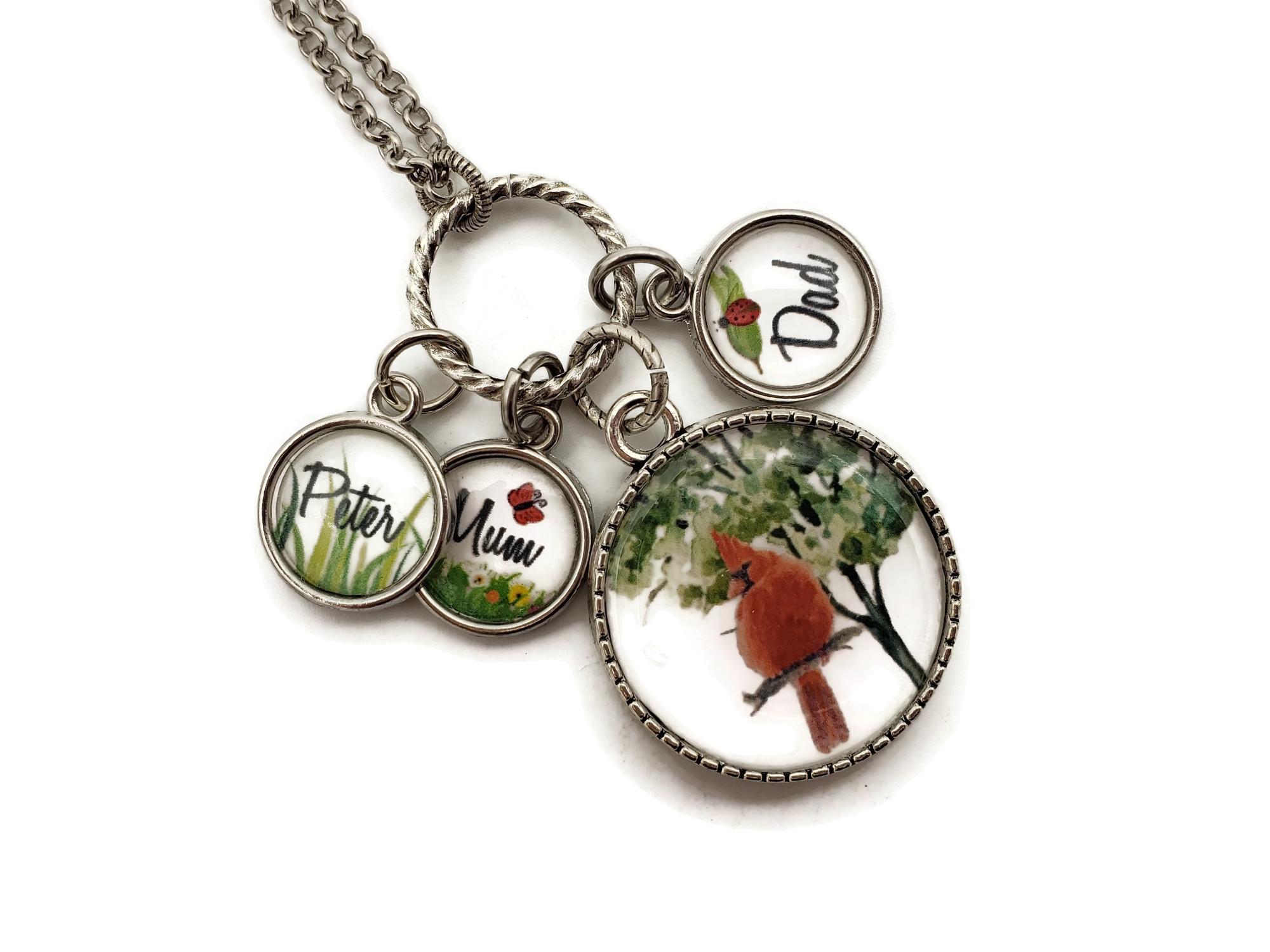 Cardinal Gifts - When a Cardinal Appears - Cardinal Memorial Necklace